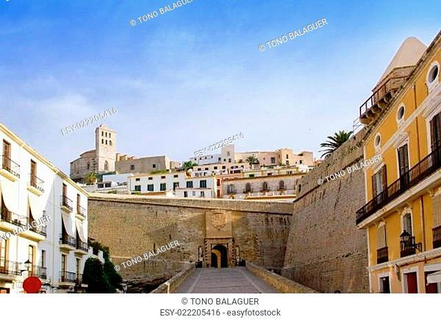 Ibiza castle fort main door