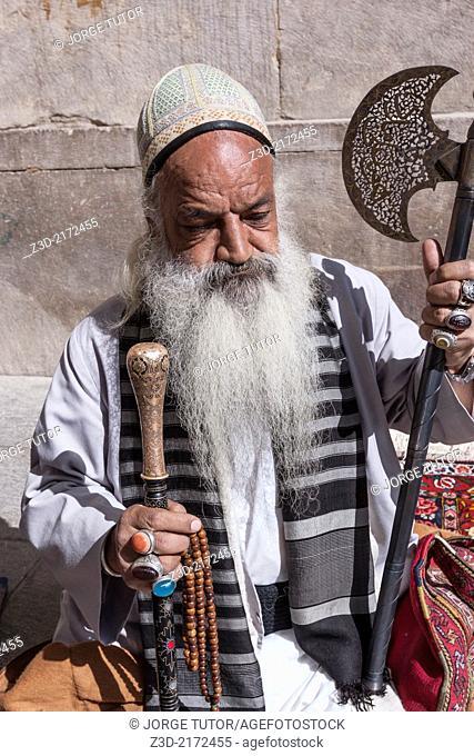 Iranian seller in Isfahan, Iran