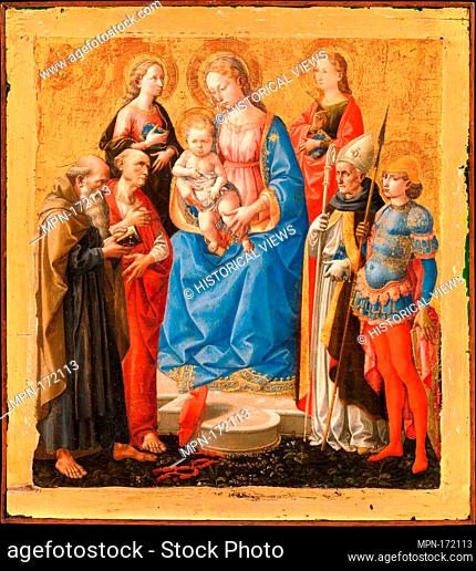 Madonna and Child with Six Saints. Artist: Pesellino (Francesco di Stefano) (Italian, Florence ca. 1422-1457 Florence); Date: late 1440s; Medium: Tempera on...