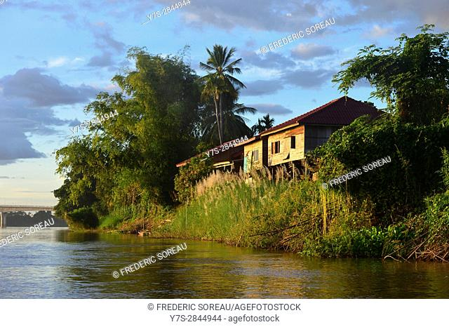 Traditional house,Four Thousand islands,South Laos,Southeast Asia