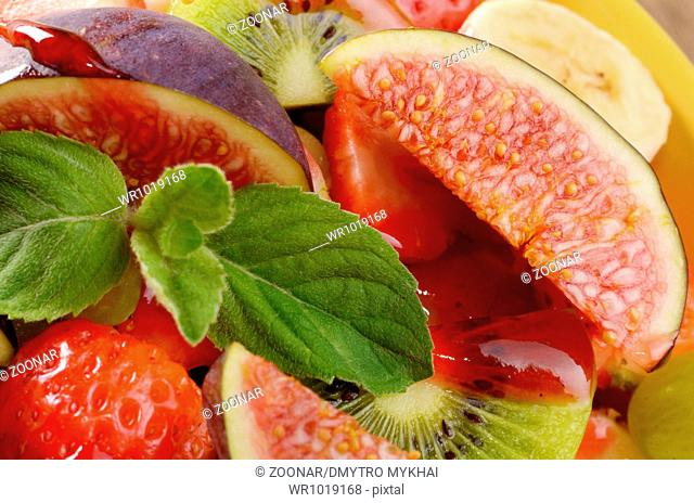 Healthy fruit mix salad