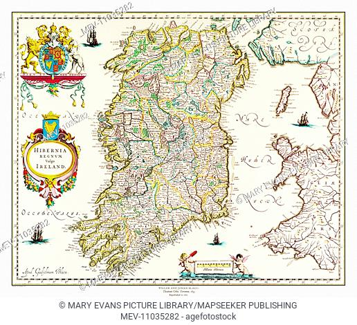 Map of Ireland by Willem and Johan Blaeu