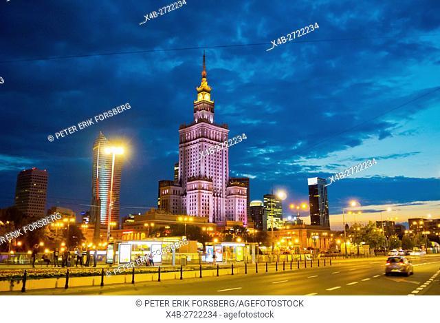 Marszalkowska street, at Patelnia square, Srodmiescie, Warsaw, Poland