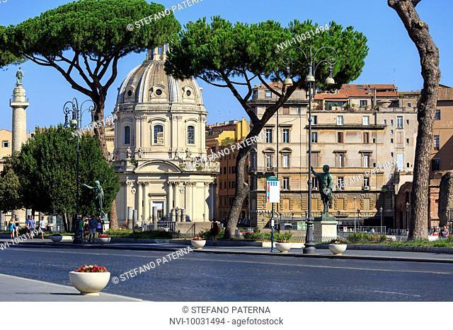 Chiesa del santissimo nome di Maria al Foro Traiano, Trajan's Forum, Rome, Lazio, Italy