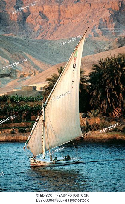 Felucca. Nile River. Egypt