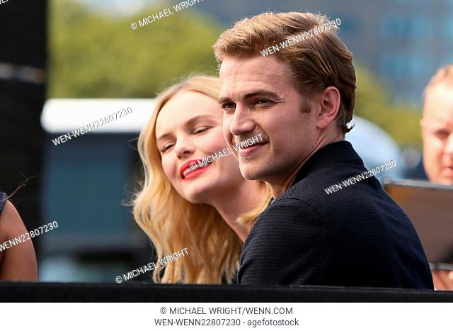 Celebrities appear on 'Extra' at Universal City Walk Featuring: Kate Bosworth, Hayden Christensen Where: Los Angeles, California