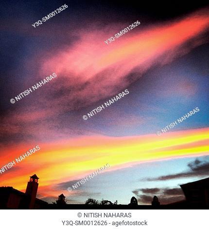 Cloudscape at dusk