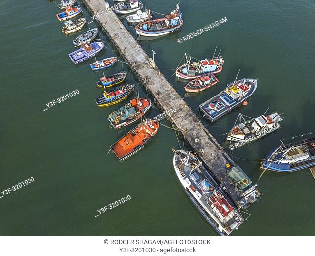 Fishing boats in Kalk Bay Harbour, Cape Town, South africa