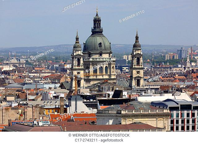 Hungary, Central Hungary, Budapest, Danube, Capital City, St. Stephens Basilica, catholic church, classicism, neo-renaissance, UNESCO World Heritage Site