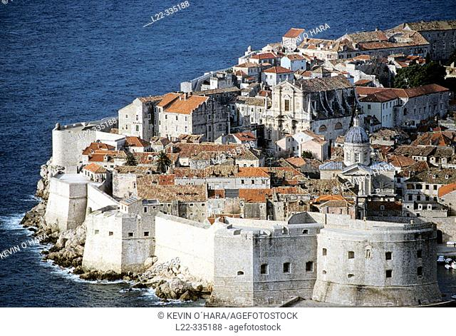 Old medieval city, Dubrovnik. Dalmatian coast, Croatia