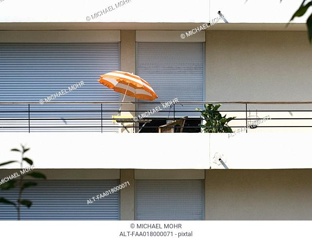 Balcony on modern apartment building