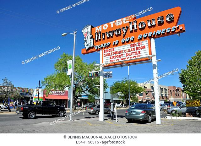 Hiway House Motel in Nob Hill Area Albuquerque New Mexico along Route 66