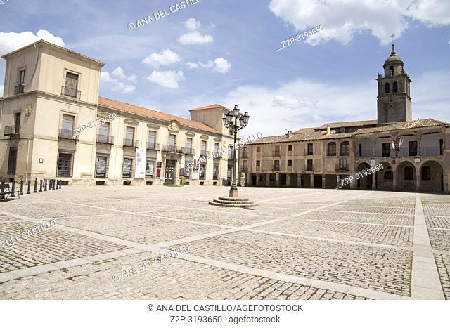 The main square in Medinaceli Soria Castile Leon Spain