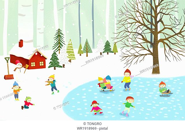 a winter scenery