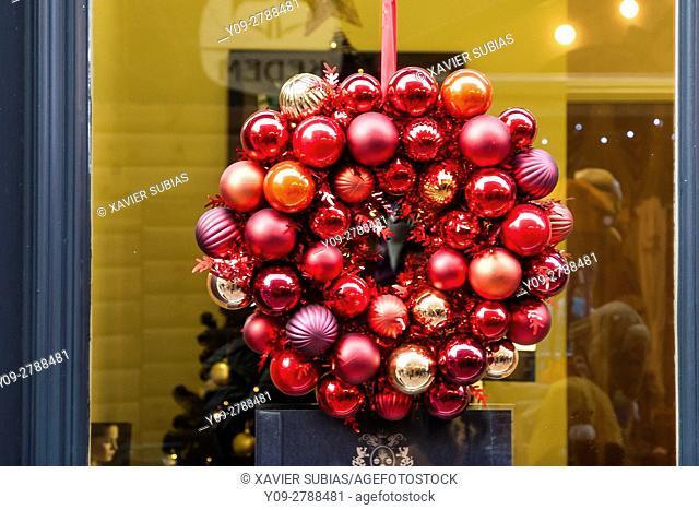 Christmas decoration, Manchester, England, United Kingdom