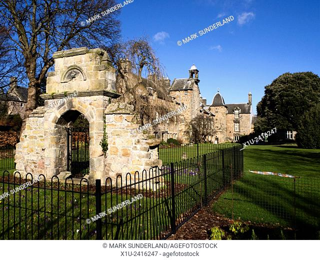 Ruin of Sixteenth Century Gateway Marking Former South Boundary of St Marys College Quad St Andrews Fife Scotland