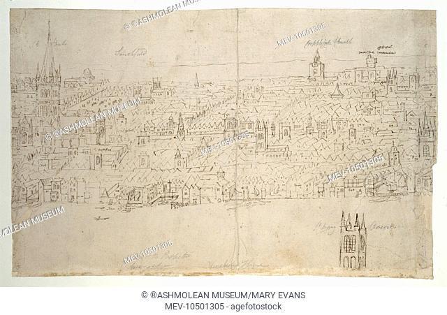 St Paul's Cathedral - from the London Panorama. Antonis Van der Wyngaerde