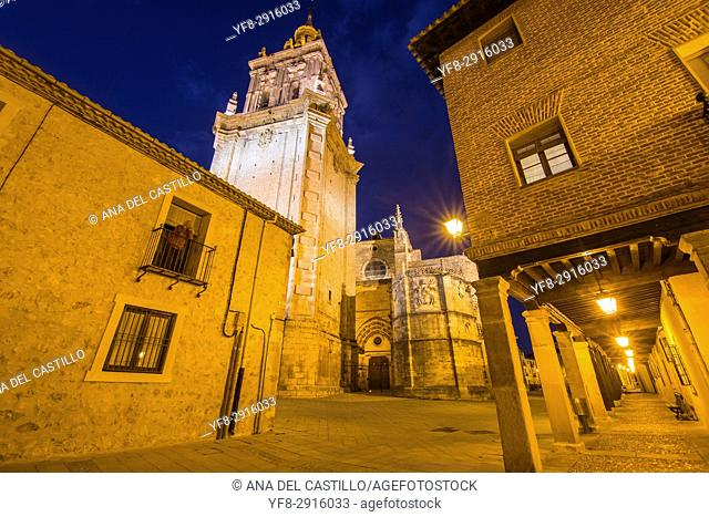 Burgo de Osma village by dusk Soria province Castile Leon Spain on June 11, 2017