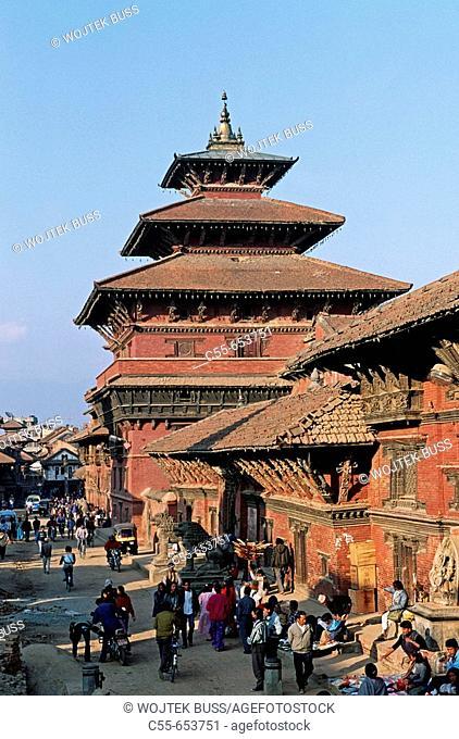 Nepal. Patan. Durbar Square. Royal Palace, built during the Malla kings period