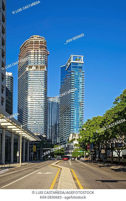 Brickell Avenue Buildings. Miami. Florida. USA