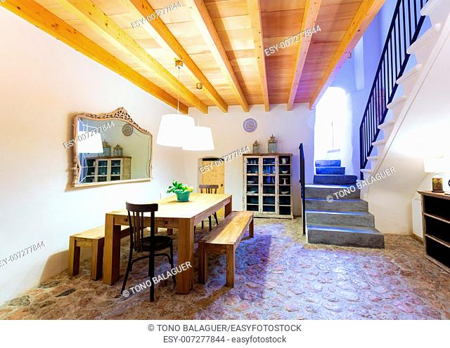 Majorca Balearic indoor house in Balearic islands Mediterranean architecture of Mallorca