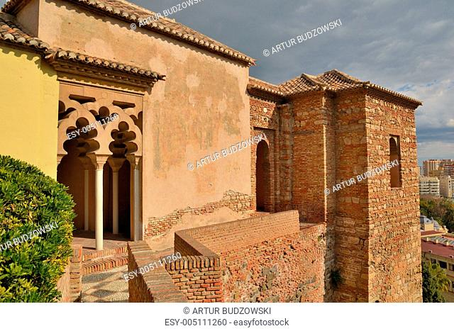 pillars of the Arab Alcazaba