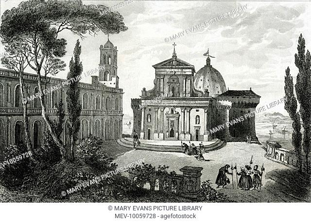 THE SANTA CASA, LORETO 1291 : Mary's house flies from Nazareth to Tersat, then 1294 first to Picenum then Loreto, where in 1534 it is housed within this...