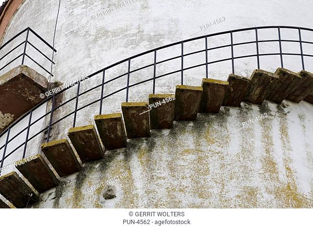 Staircase around an old water tower
