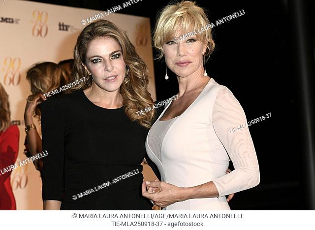 Nancy Brilli, Claudia Gerini during red carpet of 60/90 party, for 60 years of career and ninetieth birthday of Fulvio Lucisano, Italian Film Producer