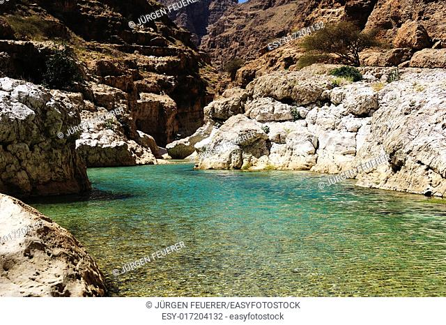 Wadi Shab in the Sultanate of Oman
