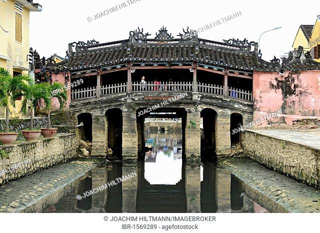 Japanese bridge Chua Cau, Hoi An, Quang Nam, Central Vietnam, Vietnam, Southeast Asia, Asia