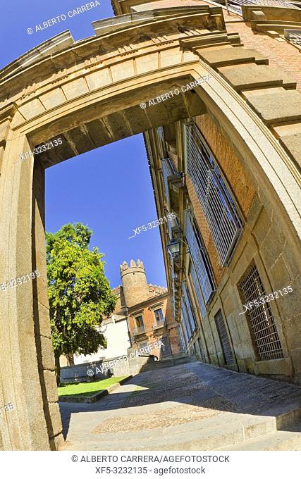 Puerta del Azebuche, Azebuche Door, Zafra, Badajoz, Extremadura, Spain, Europe