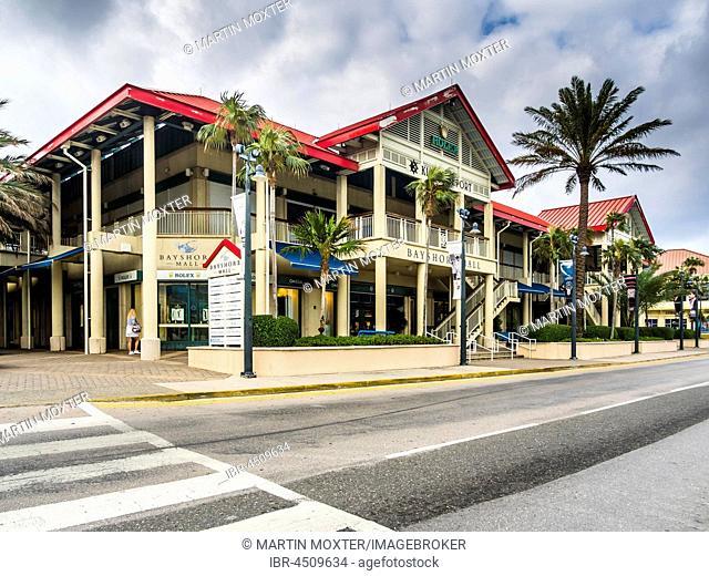 Luxury shops, Georgetown, Grand Cayman, Caribbean, Cayman Islands