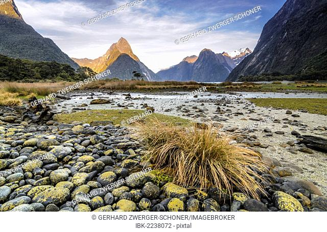 Mitre Peak, Milford Sound, Southland, South Island, New Zealand, Oceania