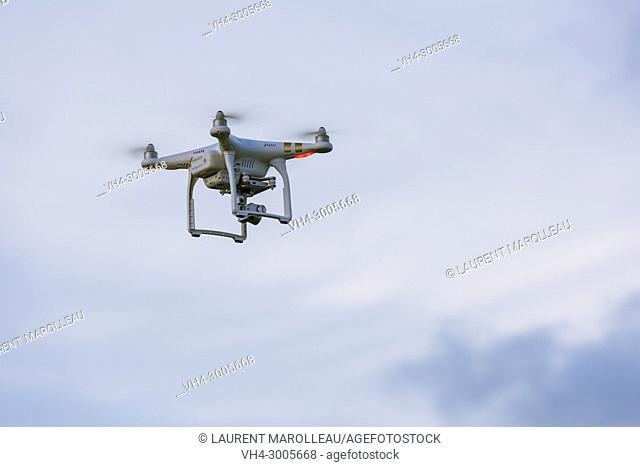 Drone with Camera in Flight at Galle Fort, Old Town of Galle and its Fortifications, Southern Province, Sri Lanka, Asia