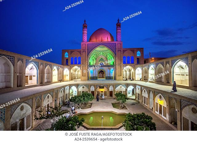 Iran, Kashan City, Masjed-e Agha Borzog Mosque