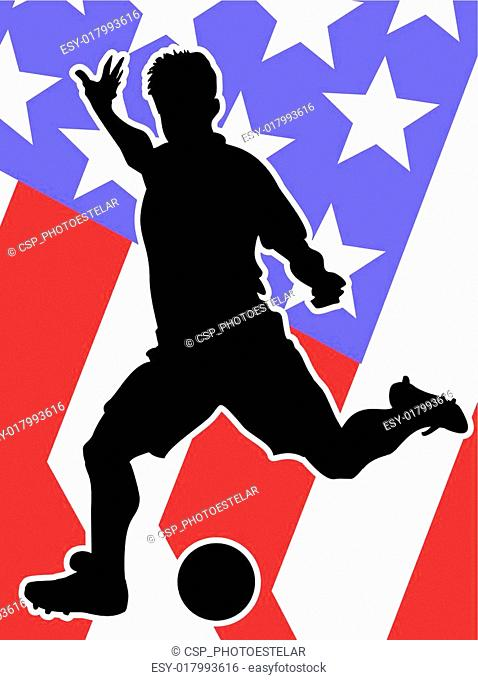 American Soccer Player silhouette