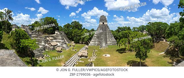 Temple I, or Temple of the Great Jaguar, is a funerary pyramid dedicated to Jasaw Chan K'awil, who was entombed in the structure in AD 734