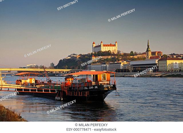 Bratislava embankment and castle