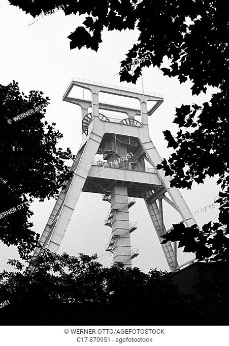 Seventies, black and white photo, economy, hard coal mining, German Mining Museum, history and technology of mining and metallurgy, hard coal mining