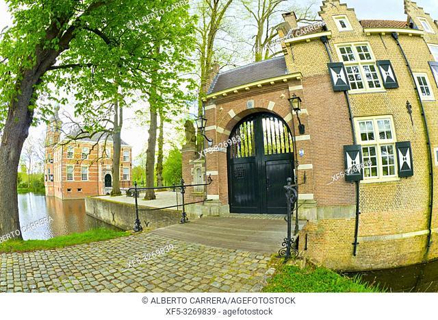 Bouvigne Castle, Mastbos Forest, Breda, Noord-Brabant Province, Holland, Netherlands, Europe