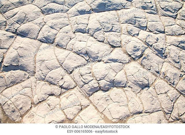 Death Valley, California. Detail of salt residue in the desert