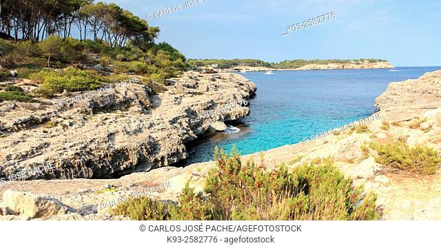 Cala Mondrago, Majorca, Balearic Islands, Spain