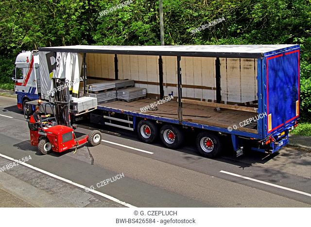 unloading a truck, Germany