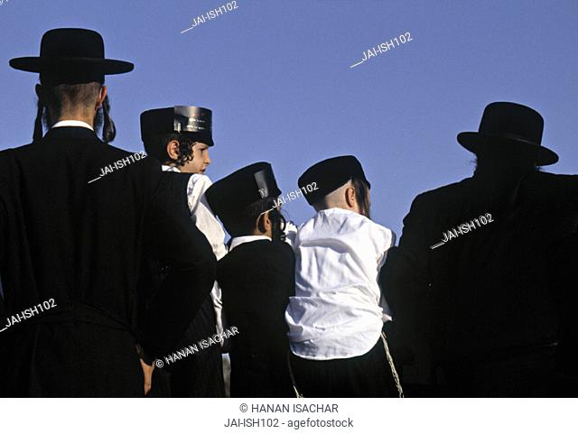 Orthodox Jews, Mea She'arim, Jerusalem, Israel