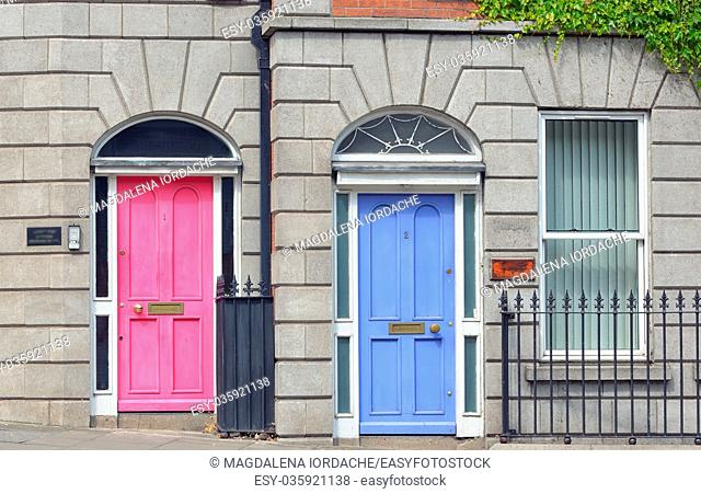Georgian Doors in Dublin city, Ireland