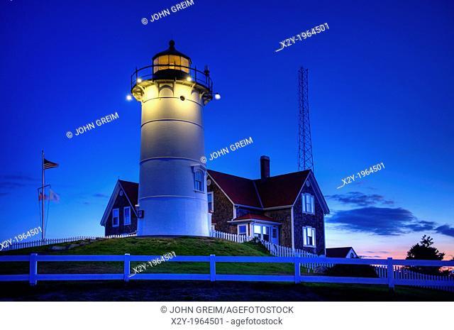 Nobska Lighthouse, Woods Hole, Foulmouth, Cape Cod, MA, USA