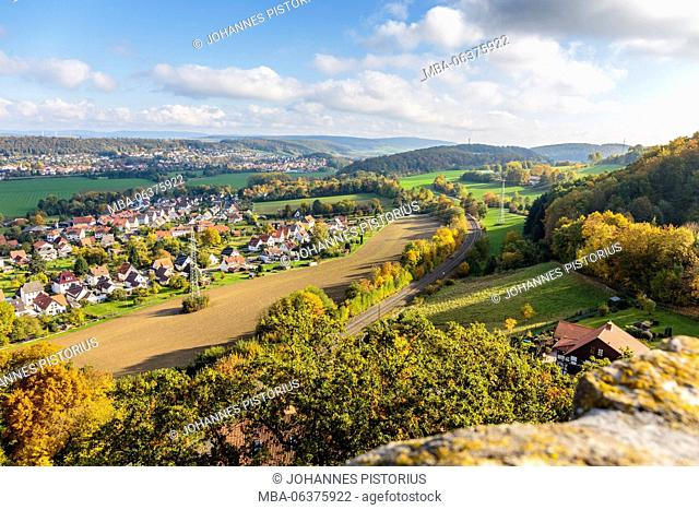 Europe, Germany, Lower Saxony, Einbeck, Leinetal close Greene