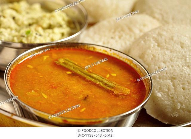 Sambar (vegetable soup, South India)