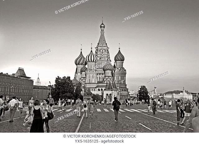 St  Basil Cathedral and the Red Square in Moscow